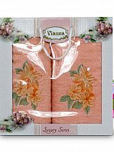Комплект полотенец ТомДом Арианова (оранжевый)