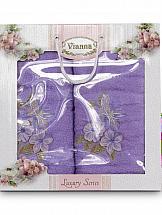 Комплект полотенец ТомДом Арианова (сиреневый) цены