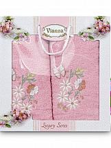 цена Комплект полотенец ТомДом Изерния (розовый) онлайн в 2017 году