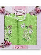 Комплект полотенец ТомДом Изерния (зеленый) набор полотенец fine line зеленый