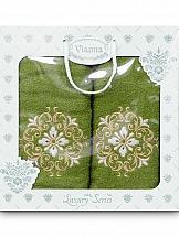 Комплект полотенец ТомДом Лангр (зеленый)