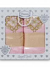Комплект полотенец ТомДом Лангр (розовый) цены