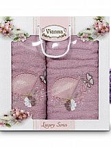 Комплект полотенец ТомДом Томиока (черника со сливками) цена