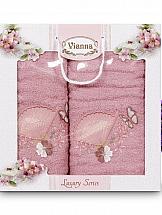 Комплект полотенец ТомДом Томиока (розовый) цены