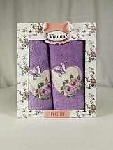Комплект полотенец ТомДом Омати (фиолетовый) цены