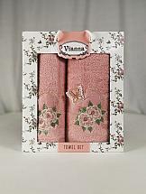 Комплект полотенец ТомДом Омати (розовый) цены