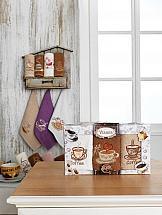 цена Комплект полотенец ТомДом Лудеак (кофе) онлайн в 2017 году