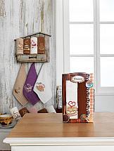 Комплект полотенец ТомДом Вандом (шоколадный и белый) набор кухонных полотенец meteor оливки 2 предмета 30 50 см
