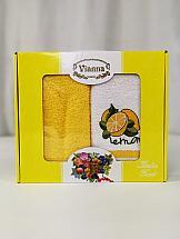 Комплект полотенец ТомДом Брено (лемон)