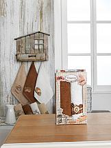 Комплект полотенец ТомДом Вандом (коричневый и белый) набор кухонных полотенец meteor оливки 2 предмета 30 50 см