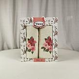 цены Комплект полотенец ТомДом Юника (молочный и красный)