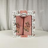 Комплект полотенец ТомДом Юника (розовый)