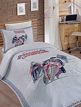 Постельное белье ТомДом Лемго (с покрывалом) постельное белье gelin home с покрывалом esma грязно розовый евро стандарт