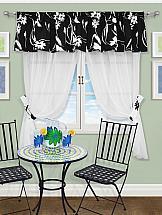 Комплект штор ТомДом Лерсен (черный) комплект легких штор правосторонний синель карамель 148
