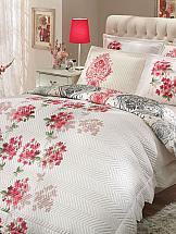 Постельное белье ТомДом Виелла (с двусторонним покрывалом) постельное белье gelin home с покрывалом esma грязно розовый евро стандарт