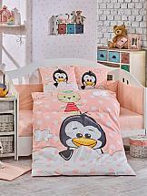 Постельное белье ТомДом Пингвинчик (персиковый)