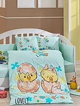 Постельное белье ТомДом Никуся (голубой с одеялом)