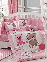 цена Постельное белье ТомДом Понпони (розовый с одеялом) онлайн в 2017 году