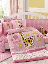 Постельное белье ТомДом Пуффи (розовый с одеялом) комплект постельного белья с одеялом la redoute apollo 90 x 140 см синий