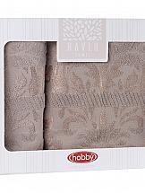 Комплект полотенец ТомДом Лидвис (коричневый)