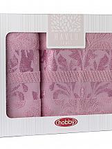 Комплект полотенец ТомДом Пианто (розовый)
