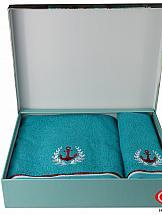 Комплект полотенец ТомДом Мартим (бирюзовый)