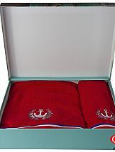 Комплект полотенец ТомДом Мистекс (красный)