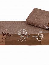 Полотенце ТомДом Флоресо (коричневый)