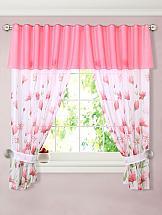 Комплект штор ТомДом Ардин (розовый)