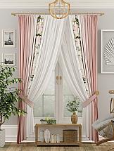 Комплект штор ТомДом Виоран (тепло-розовый)