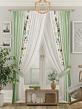 Комплект штор ТомДом Виоран (зеленый) комплект штор тд текстиль алькор на ленте цвет зеленый высота 270 см 98766