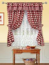 Фото - Комплект штор ТомДом Ньюви (бордо) шторы для комнаты реалтекс комплект штор 030 бордо