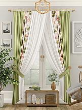 Комплект штор ТомДом Диогри (зеленый) комплект штор тд текстиль алькор на ленте цвет зеленый высота 270 см 98766