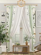 Комплект штор ТомДом Лайтон (зеленый) комплект штор тд текстиль алькор на ленте цвет зеленый высота 270 см 98766