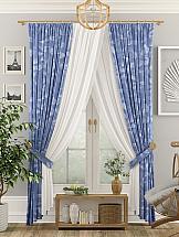 Комплект штор ТомДом Квиан с подхватами комплект штор томдом сарада золотой с подхватами