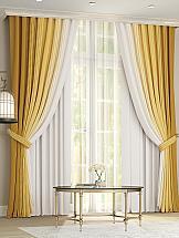 Комплект штор ТомДом Лайрис (желто-белый)