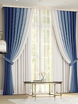 Комплект штор ТомДом Лайрис (бело-синий)