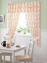 Комплект штор ТомДом Ксия (оранжевый) комплект штор тд текстиль шик на ленте цвет оранжевый высота 180 см 92528