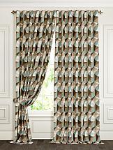 Комплект штор ТомДом Клаи (коричнево-бирюзовый)