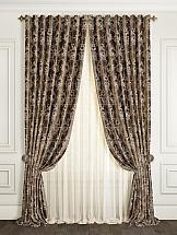 Комплект штор ТомДом Линдари (коричневый)