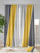 Комплект штор ТомДом Джорин (серо-желтый) комплект штор томдом перри желтый