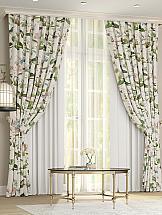 Комплект штор ТомДом Клайси (белый) комплект штор томдом клайси ягодный