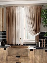 Комплект штор ТомДом Акиа (коричневый) комплект штор томдом пьерио коричневый
