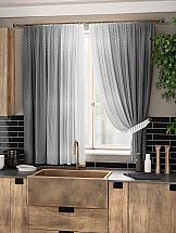 Комплект штор ТомДом Акиа (серый)