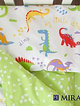 купить Постельное белье ТомДом Дино (зеленый) дешево