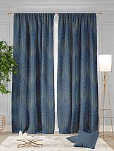 Комплект штор ТомДом Домин (стальной синий) комплект штор haft цвет стальной высота 250 см 28890 250