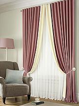 цены Комплект штор ТомДом Клом (пудрово-розовый)
