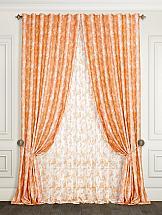 Комплект штор ТомДом Цветая (оранжевый)
