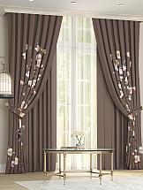 Комплект штор ТомДом Лолфи (коричневый)