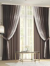 Комплект штор ТомДом Новиар (коричневый)